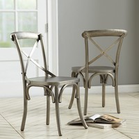 Constance Metal Dining Chairs - Set of 2