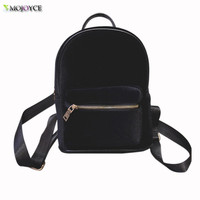 Backpack Women 2016 Newest Stylish Cool Faux Suede Small Backpack Female Hot Sale Women Bag Sac a dos Rugzak Fast Shipping