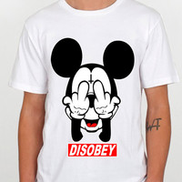 Mickey Mouse obey Popular design clothing for T Shirt Mens and T Shirt Girls