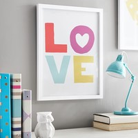 Love Multi-Colored Gallery Frame