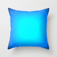 Turquoise Blue Focus Throw Pillow by 2sweet4words Designs | Society6