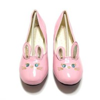Lovely Girl Pumps (Rabbit) in Pink (L) from SWIMMER