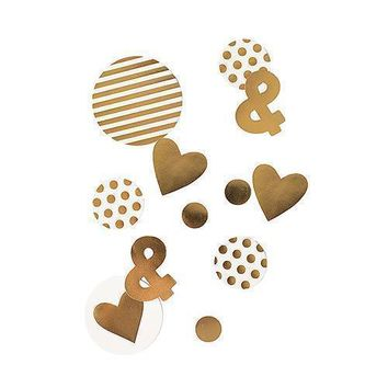 Gold Foil Jumbo Party Confetti (Pack of 1)