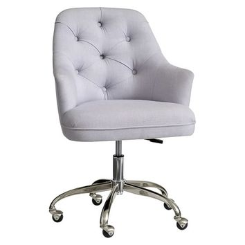 Twill Tufted Desk Chair