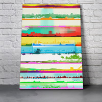 Canvas Wall Art Print - City Lines by Chris Keegan