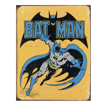 Batman Retro Vintage Tin Sign