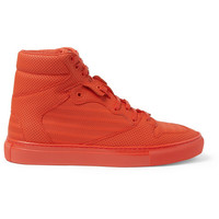 Balenciaga - Perforated-Leather High Top Sneakers | MR PORTER