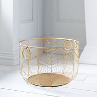 Celeste Gold Medium Basket