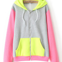 Long Sleeve Zip Hooded Long Sleeve Jacket