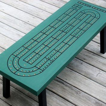 Handcrafted Cribbage Board Coffee Table Spruce by TheRightJack