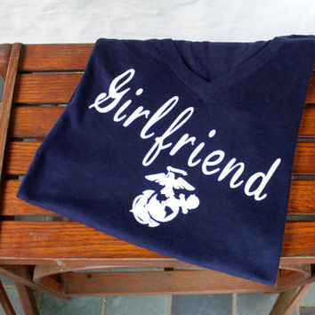 SALE! usmc girlfriend t shirt