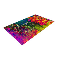 "Ebi Emporium ""Bloom Where You're Planted"" Floral Woven Area Rug"