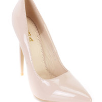 Nude Single Sole Pump High Heels