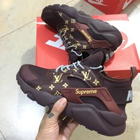 NIKE x Supreme x LV x Huarache Fashion Running Sneakers Sport Shoes