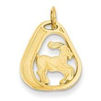 Capricorn Charm in 14k Gold