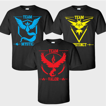 Pokemon Go Team Logo Print Short Sleeve T-Shirt