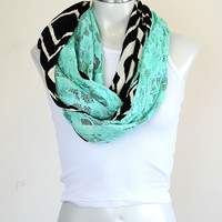 Jersey and Lace Loop Scarf | Kindred Spirit Collection