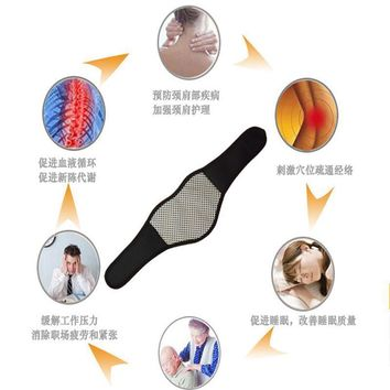 Self Heating Tourmaline Magnetic Neck Heat Therapy Belt Wrap Brace