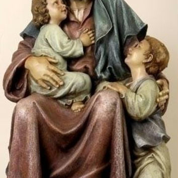 Jesus With Children Statue - Use Indoors Only