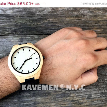 SALE Wood Watch. Personalized Watch. Minimalist Watch. Mens Wood Watch. Wooden Watch. Watches. Watch. Mens Gift. Black Knight. Kavemen. Manh