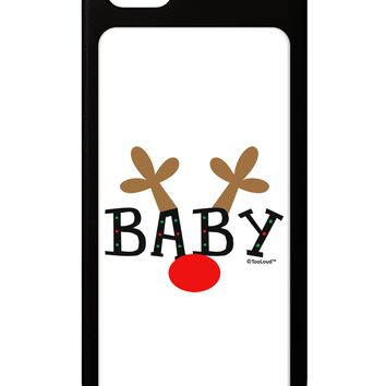Matching Family Christmas Design - Reindeer - Baby iPhone 5 / 5S Grip Case  by TooLoud
