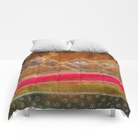 Lines in the mountains 01 Comforters by vivianagonzlez