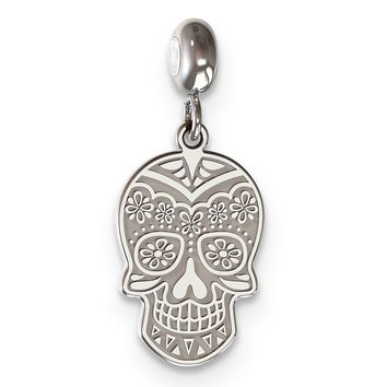 MeMi Sterling Silver  Day Of The Dead Skull Face Charm