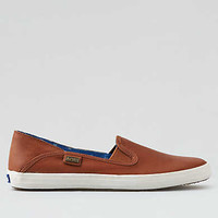 Keds Crashback Leather Shoe, Tan