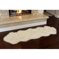 Nouvelle Legende® Faux Fur Sheepskin Premium Rug Duo (23 in. X 73 in.) - Walmart.com