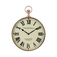 Polished Copper Wall Clock Shiny Copper