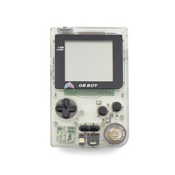 """Kong Feng GB Boy Classic Pocket Handheld Game Console 2.45"""" Game Player with Black and White display screen Color Clear White"""