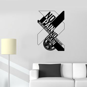 Wall Decal Motivation Poster Training Sports Fitness Club CrossFit Vinyl Sticker Unique Gift (ed737)