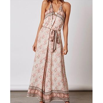 cotton candy - morning glory jumpsuit - terracotta