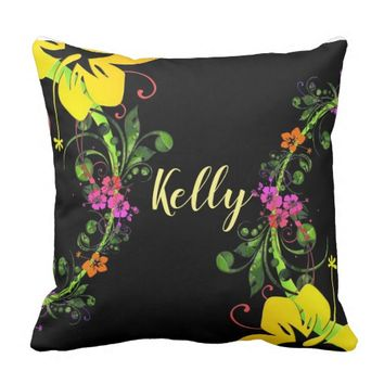 Hibiscus flower pillow