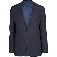 River Island MensDark blue slim suit jacket