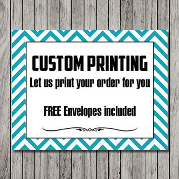 Custom Greeting Card Printing - FREE Envelopes included - Print your design or ours - Custom card design printing
