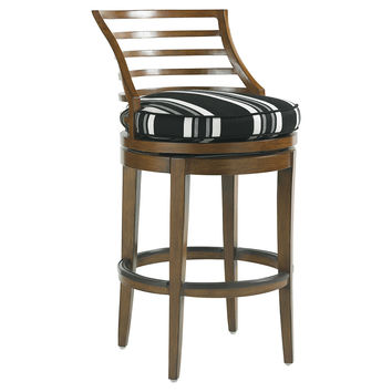 Pacifica Swivel Barstool, Outdoor Bar & Counter Stools