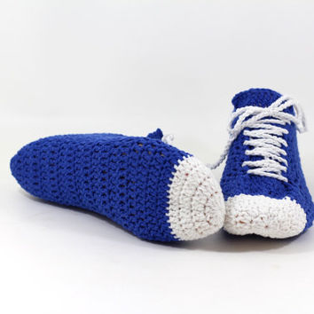 Crocheted sneakers slippers Men-women shoes PDF pattern