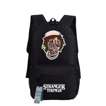 Anime Backpack School Stranger Things American TV Series Cosplay Backpack kawaii cute Oxford Schoolbags Fashion Unisex Travel Laptop Bag Gift 45x32x13cm AT_60_4