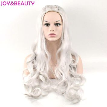 JOY&BEAUTY Synthetic Hair Long Wavy Wig Game of Thrones Daenerys Targaryen Cosplay Wig High Temperature Fiber Hair Wig