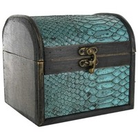 Turquoise Faux Snake Skin Box with Lining | Shop Hobby Lobby