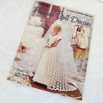 Crocheted Fashion Doll Dresses pattern leaflet