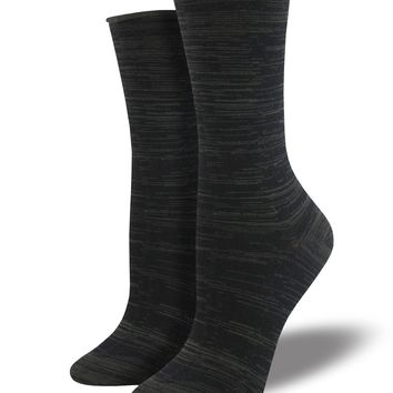 Bamboo Black Space Dye Socks