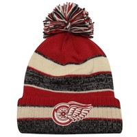 CCM Detroit Red Wings Winter Classic Bulky Cuffed Hat - Natural/Red