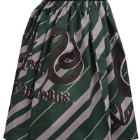 Slytherin Inspired Full Skirt