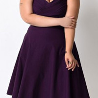 Short Sleeve Sweethear Neck Plus Size Dress
