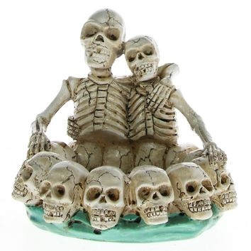 Skull Couple Lovers Ashtray Table Ornament