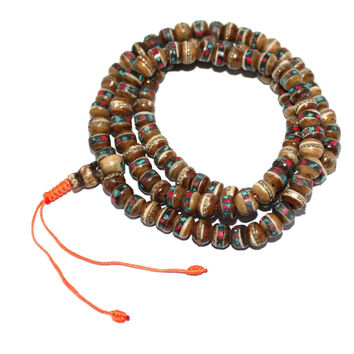 Brown Yak Bone meditation prayer beads