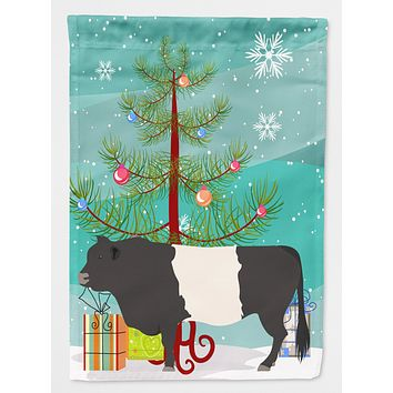 Belted Galloway Cow Christmas Flag Canvas House Size BB9198CHF