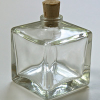 Square Mini Glass Bottles with Corks
